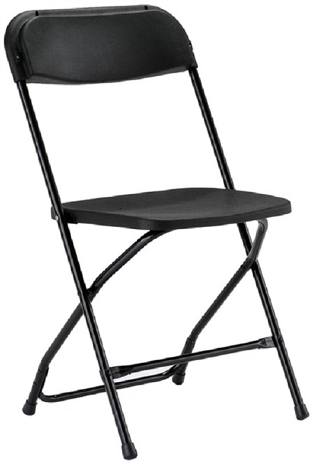 Folding Chairs Plastic black plastic folding chair - atlanta cheap prices poly folding