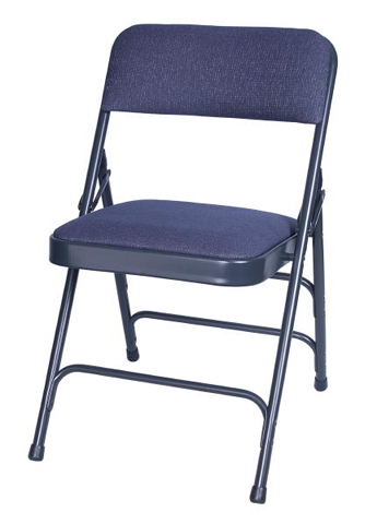 Wonderful Blue Fabric Metal Folding Chair