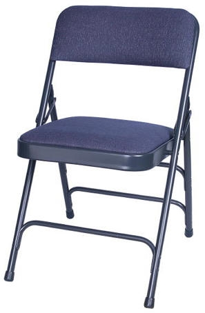 Illinois Metal Padded Chairs Metal Stacking Folding