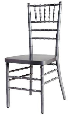 Silver Chiavari Wood Chair