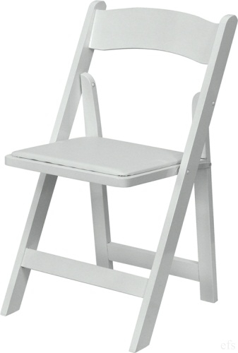 WHITE WOOD FOLDING CHAIR ...
