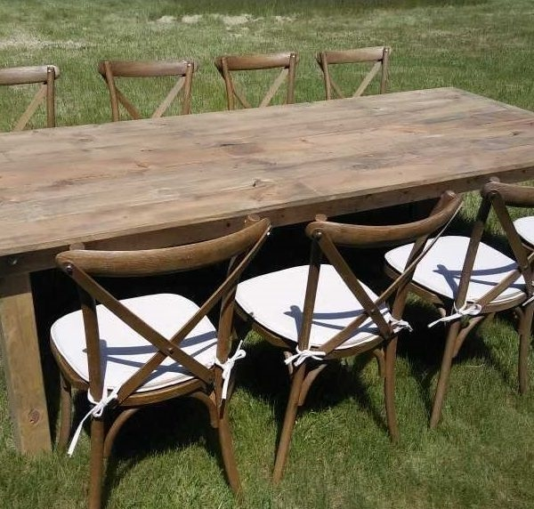 Free Shipping 40 X 96 Farm Table With Folding