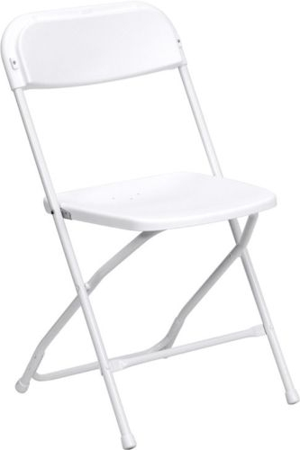 WHITE POLY FOLDING CHAIR ...  sc 1 st  Folding Chairs Tables Discount & Low Prices White Plastic Folding Chair - Los Angeles Cheap Plastic ...