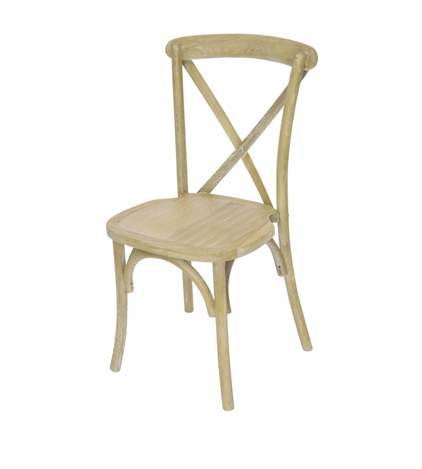 WHOLESALE NATURAL X Back Banquet Chair